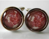 Wahine New Zealand Postage Stamp Cufflinks