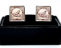 Tuatara New Zealand  Postage Stamp Cufflinks Square