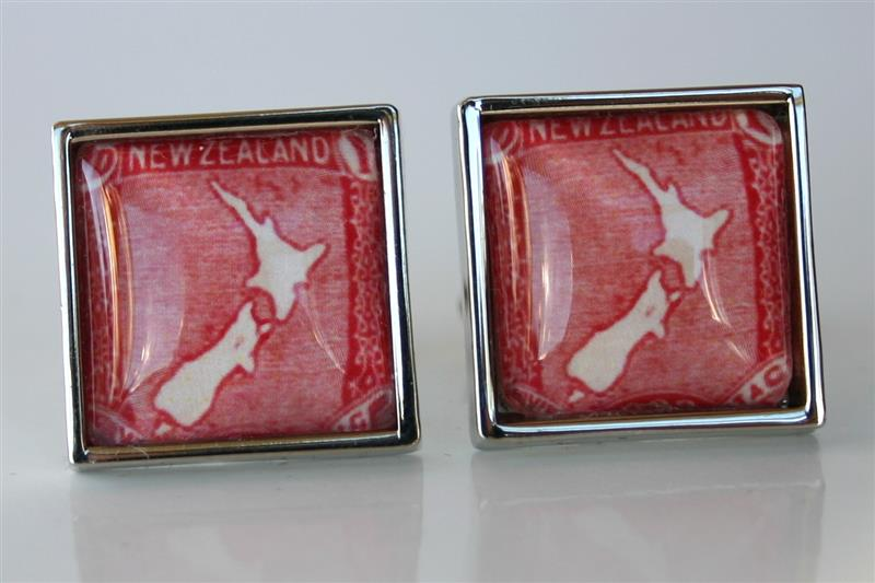 Show Me A Map Of New Zealand.New Zealand Map Postage Stamp Cufflinks