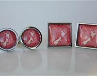 New Zealand Map Postage Stamp Cufflinks