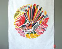 """Colouful Fantail"" Tea Towel"
