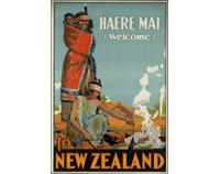 Haere Mai Vintage NZ Travel Poster