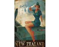 Kiwis Do Fly Print on Canvas by Paul Ny
