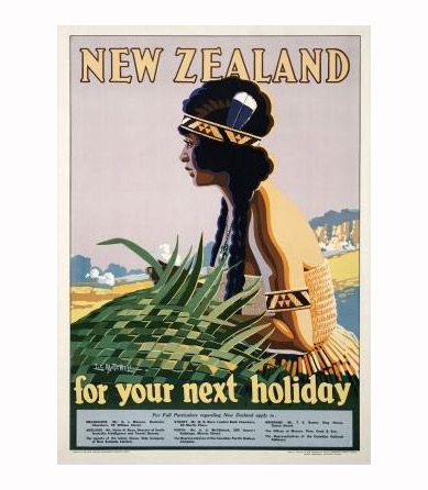 Vintage NZ Travel Poster