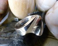 Solid Silver Wave Ring