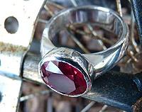 Synthetic Ruby Ring