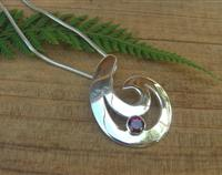 Silver Fish Hook Pendant - chain optional
