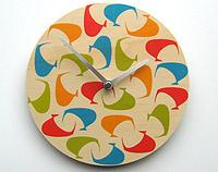 Retro Kiwi Wall Clock