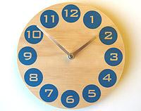 Blue Dot Wall Clock