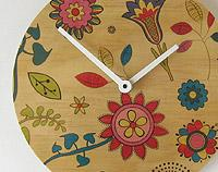 Flowery Wall Clock