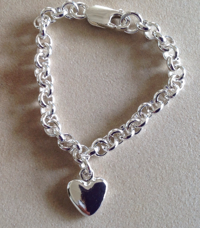 charm heart swarovski bracelet girl little weddings crystal s