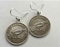 New Zealand Vintage Coin Earring