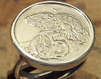 New Zealand 5 cent Coin Ring