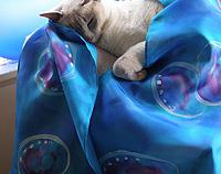 Paua Handpainted Pure Silk Scarf