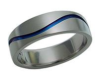 Titanium Blue Wave Ring 5247 - do not make live