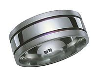 Titanium Purple Grooves Ring 5242