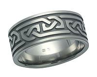 Titanium Celtic Design Ring 5605