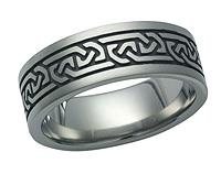 Titanium Celtic Ring 5601