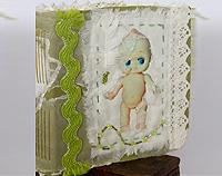 L'il Kewpie: Handmade Fabric Covered Journal