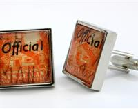 Maori Meeting House Postage Stamp Cufflinks