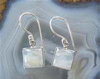 Moonstone earrings - sterling silver