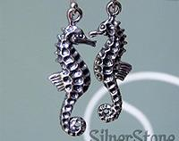 Silver seahorse earrings