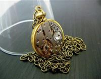 The Coin Keeper - Steampunk Inspired Vintage Watch Pendant
