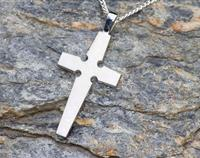 Celtic Inspired Cross - Sterling Silver