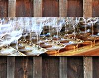 Wine Glass Photography on Metal