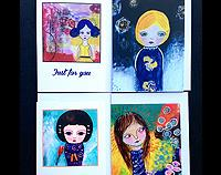 Girls of the World - Cards from original Artworks