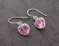 CZ Sterling Silver Heart Earrings