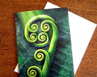 """Bursting Through"" New Zealand Koru Gift Card"