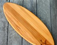 Recycled Kauri Serving Board - Cutting Board - Bread Board with carved leaves