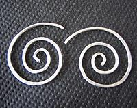 Silver Koru earrings