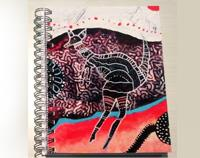 Lined Notebook - Kangaroo Dreamtime