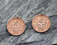 Half Penny Earrings - Polished