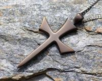 Viking Cross Bronze / Sterling Silver Chain