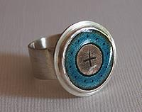 Light Blue and Grey ring