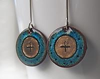 Enamelled Earrings