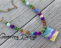Laguna Beach glass necklace