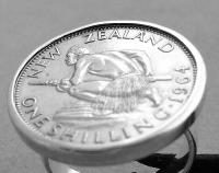 New Zealand Shilling Coin Ring