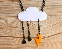 Acrylic Cloud Necklace