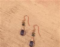Amethyst Purple Swarovski Briolette & Olive Crystal Earrings