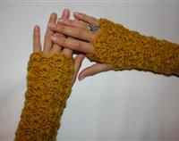Fingerless Gloves Mustard