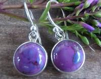 Purple mohave turquoise earrings