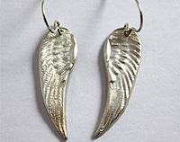 Pure silver earrings- Angel wings