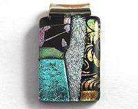Dichroic Mosaic Fused Glass Pendant - Deco
