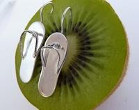 Sterling silver jandal earrings - Kiwi icon