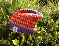 Tri Coloured Long Beanie