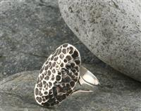 Sterling Silver Textured Antiqued Ring